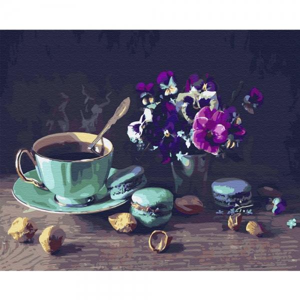 Картина по номерам BrushMe 40*50см Кофе с макарунами (GX31574)