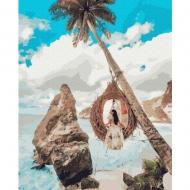 Картина по номерам BrushMe 40*50см Девушка на райских остовах (GX37603)