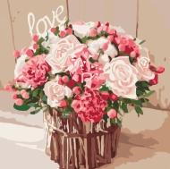 Картина по номерам Идейка 40х40см Розы любви (КНО2074)
