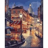 Картина по номерам Идейка 40х50см Прогулка во Франции (КНО2116)