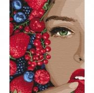 Картина по номерам Идейка 40х50см Сочная ягодка (КНО4739)
