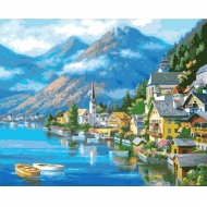 Картина по номерам Идейка 40х50см Австрийский пейзаж (КНО2143)