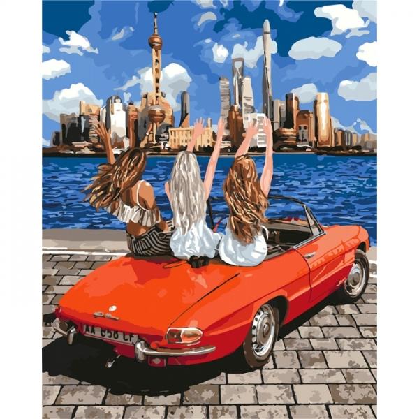 Картина по номерам Идейка 40х50см Девочки-подружки (КНО4712)