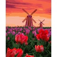 Картина по номерам Идейка 40х50см Тюльпаны на закате (КНО2275)