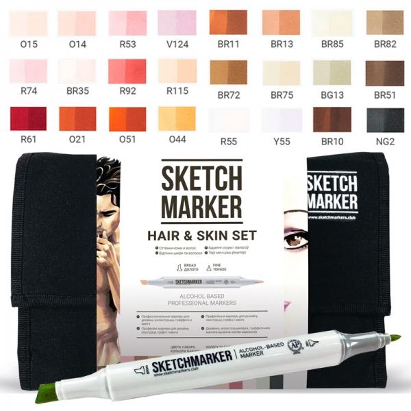 Набор маркеров SKETCHMARKER Телесные тона 24 цвета