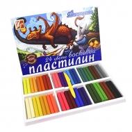 """Пластилин восковой Луч """"Фантазия"""" 24 цвета, со стеком"""