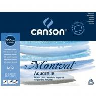 Блок бумаги для акварели Canson Montval 24x32 см 300 г/м2 12 л. (0006-544)