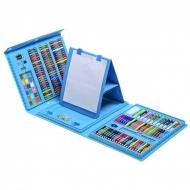 Детский набор для рисования на 208 предметов (Синий)