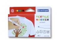 Набор маркеров по ткани CENTROPEN 2739 Textil, 6 цветов