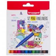 Набор лайнеров Bruynzeel FINELINER Mini 12 цв. (60241512)