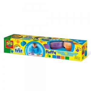 Воздушные пальчиковые краски SES Creative My first яркий ПЕНКА (4 цв. в пласт. баночках) (14441S)