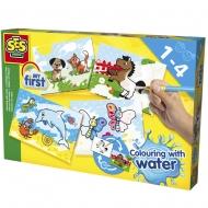 Набор для творчества SES Creative My first Водные рисунки (карточки, кисточка) (14421S)