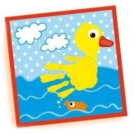 Пальчиковые краски SES Creative My first Отпечаток (3 цв. в пласт.баночках, рисунки) (14419S)