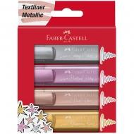 Набор маркеров Faber-CastellTextliner METALLIC 4шт  (30744)