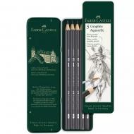 Набор карандашей Faber-Castell GRAPHITE AQUARELLE 5шт метал. пенал (24146)