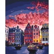 Картина по номерам Идейка 40х50см Каникулы в Стокгольме (КНО3558)