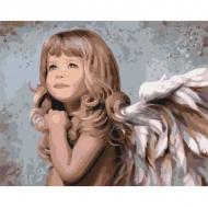 Картина по номерам Идейка 40х50см Маленький ангелок (КНО2309)