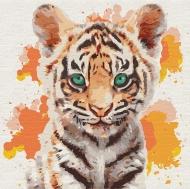 Картина по номерам Идейка 30х30см Маленький тигр (КНО4195)