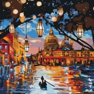Картина по номерам Идейка 40х40см Огни Венеции (КНО2183)