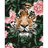 Картина по номерам Идейка 40х50см Отважный тигр (КНО4172)