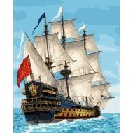Картина по номерам Идейка 40х50см Королевский флот (КНО2729)