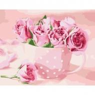 Картина по номерам Идейка 40х50см Чайные розы (КНО2923)