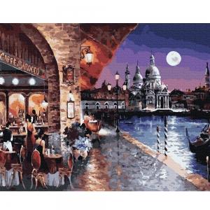 Картина по номерам BrushMe 40*50см Вечернее кафе Венеции (GX35720)