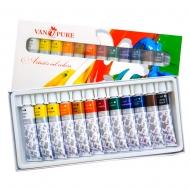Набор масляных красок 12 цветов  12 мл Van Pure