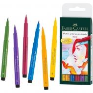 Набор ручек Faber-Castell РІТТ 6шт Основные цвета (14892)