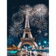 Картина по номерам Идейка 30х40см Огни Парижа (КНО3572)