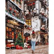 Картина по номерам Идейка 40х50см Гуляя новогодними улочками (КНО3582)