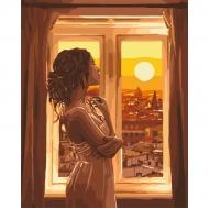 Картина по номерам Идейка 40х50см Золотой рассвет (КНО4648)