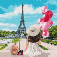 Картина по номерам Идейка 40х40см Гуляя по улицам Парижа (КНО4756)