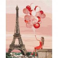 Картина по номерам Идейка 40х50см Красные краски Париже (КНО4757)
