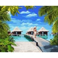 Картина по номерам Идейка 40х50см Отдых на Мальдивах (КНО4764)