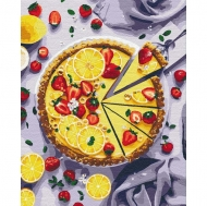 Картина по номерам Идейка 40х50см Лимонный пирог (КНО5594)