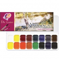 Набор акварельных красок Луч Люкс медовые 16 цв. (110136)