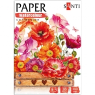 Набор акварельной бумаги SANTI Botany А3 Paper Watercolor Collection 18 л. 200г / м2 (742813)