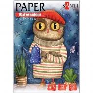 Набор акварельной бумаги SANTI А3 200г/м2 Paper Watercolor Collection Wonderland 12 л. (742815)
