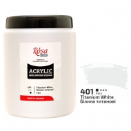 Краска акриловая ROSA Studio 1000 мл (401) Белила титановые (322001401)