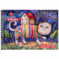 Альбом для акварели SANTI Wonderland А5 Paper Watercolour Collection 12 л. 200 г (742830)