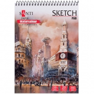 Альбом для акварели SANTI Travelling А5 Paper Watercolour Collection 20 л. 200 г (742832)