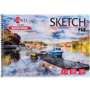 Альбом для акварели SANTI Travelling А4 Paper Watercolour Collection 10 л. 200 г (742837)
