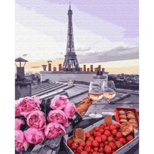 Картина по номерам BrushMe 40*50см Романтика в Париже (GX23710)