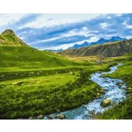 Картина по номерам BrushMe 40*50см Альпийский луг (GX30094)