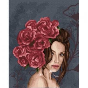 Картина по номерам BrushMe 40*50см Леди в розах (GX37456)