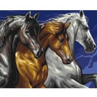 Картина по номерам BrushMe 40*50см Трио лошадей (GX37850)