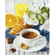 Картина по номерам BrushMe 40*50см Цитрусовый кофе (GX31724)
