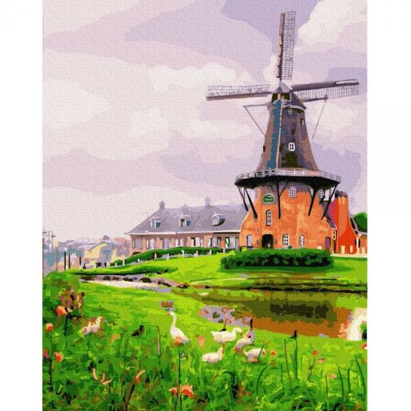 Картина по номерам BrushMe 40*50см Мельница на окраине (GX26035)