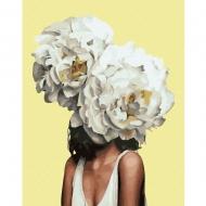 Картина по номерам BrushMe 40*50см Женщина в пионах (PGX36696)